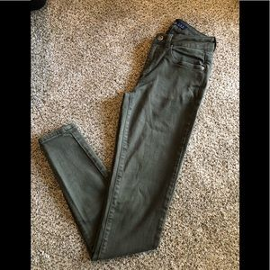 Zara Green Khaki skinny pants size 2